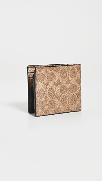 Coach New York 3-in-1 Colorblock Signature Wallet
