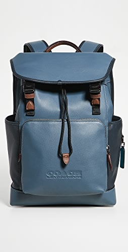 Coach New York - League Flap Backpack in Colorblock