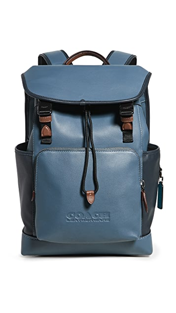 Coach New York League Flap Backpack in Colorblock