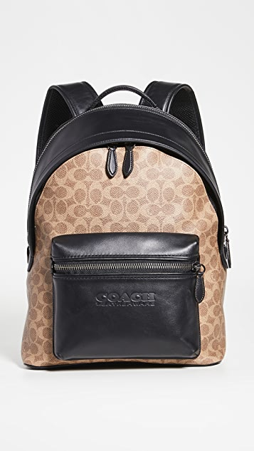Coach New York Signature Charter Backpack