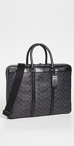 Coach New York - Signature Metropolitan Slim Briefcase