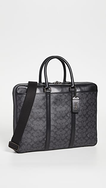 Coach New York Signature Metropolitan Slim Briefcase