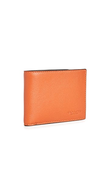 Coach New York Slim Billfold in Colorblock Leather