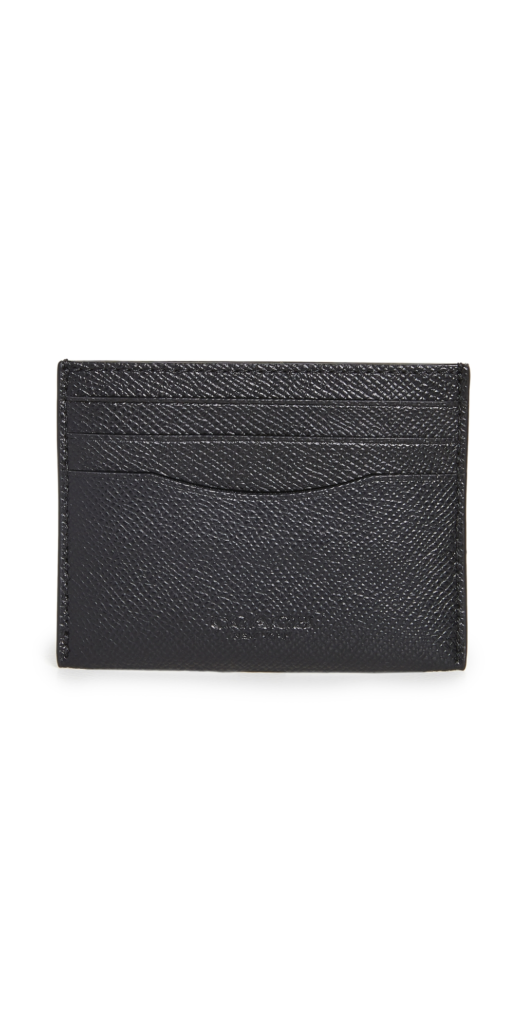 Flat Card Case in Cross Grain Leather