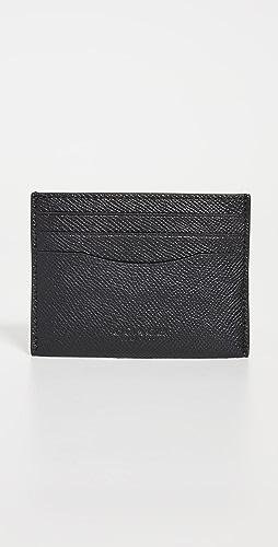 Coach New York - Flat Card Case in Cross Grain Leather