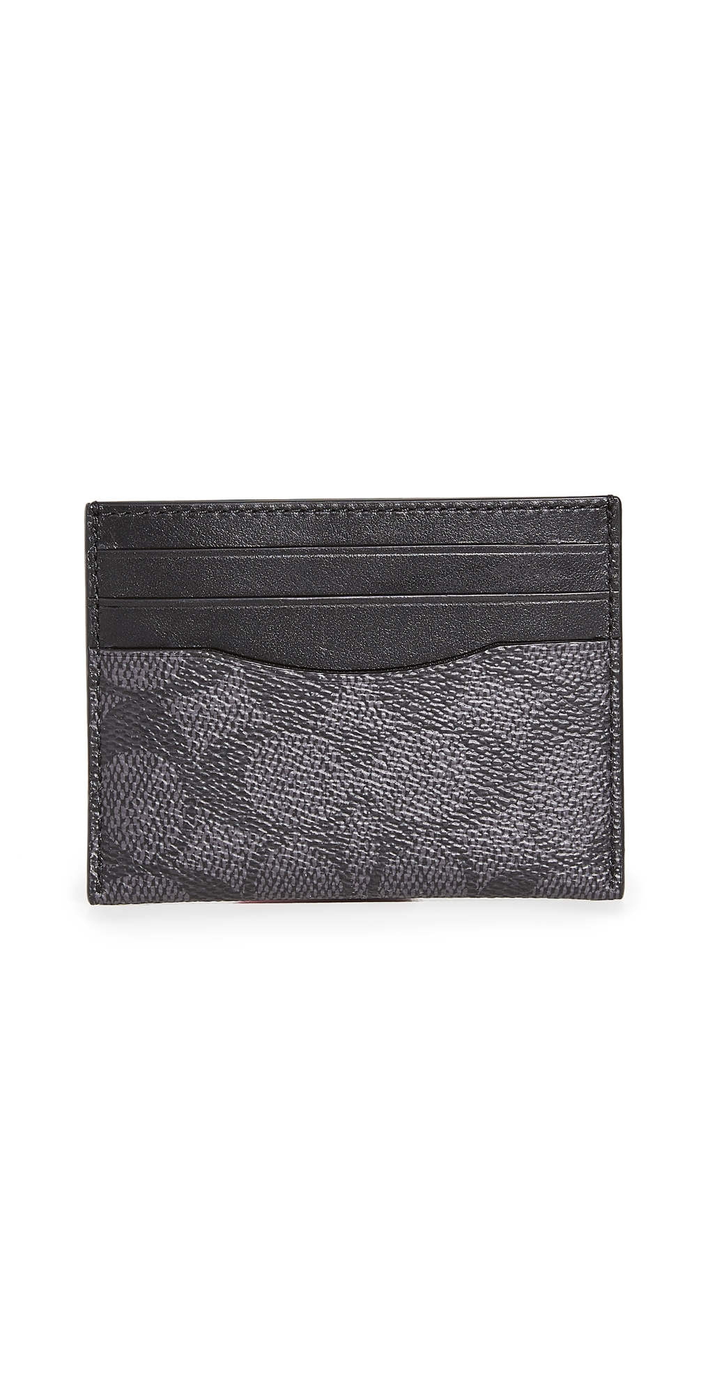 Flat Card Case in Signature Leather