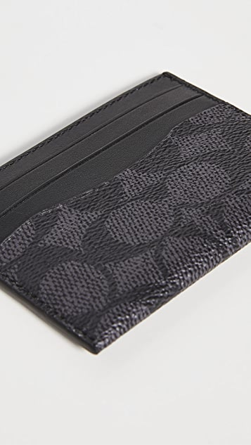 Coach New York Flat Card Case in Signature Leather