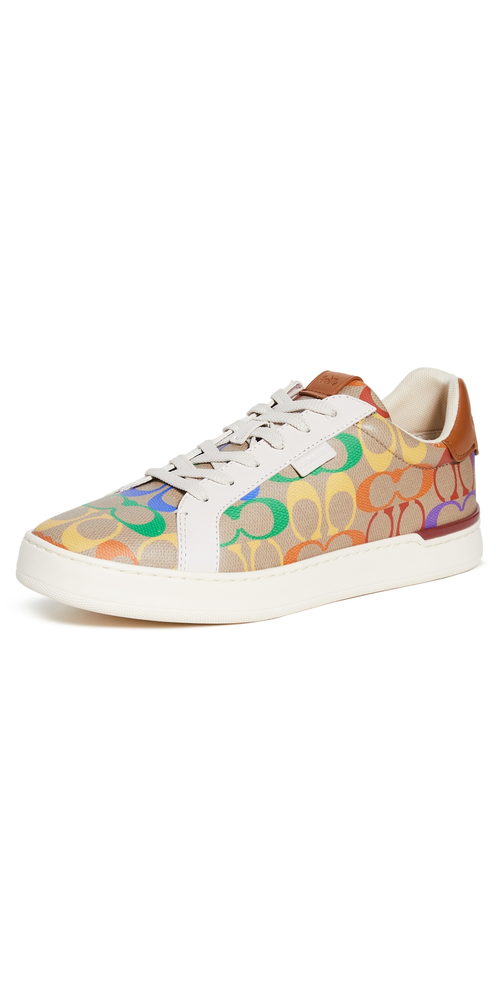 Lowline Rainbow Coated Canvas Sneakers