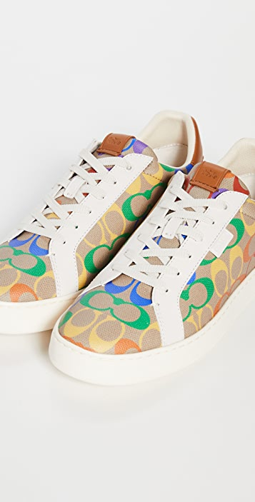 Coach New York Lowline Rainbow Coated Canvas Sneakers