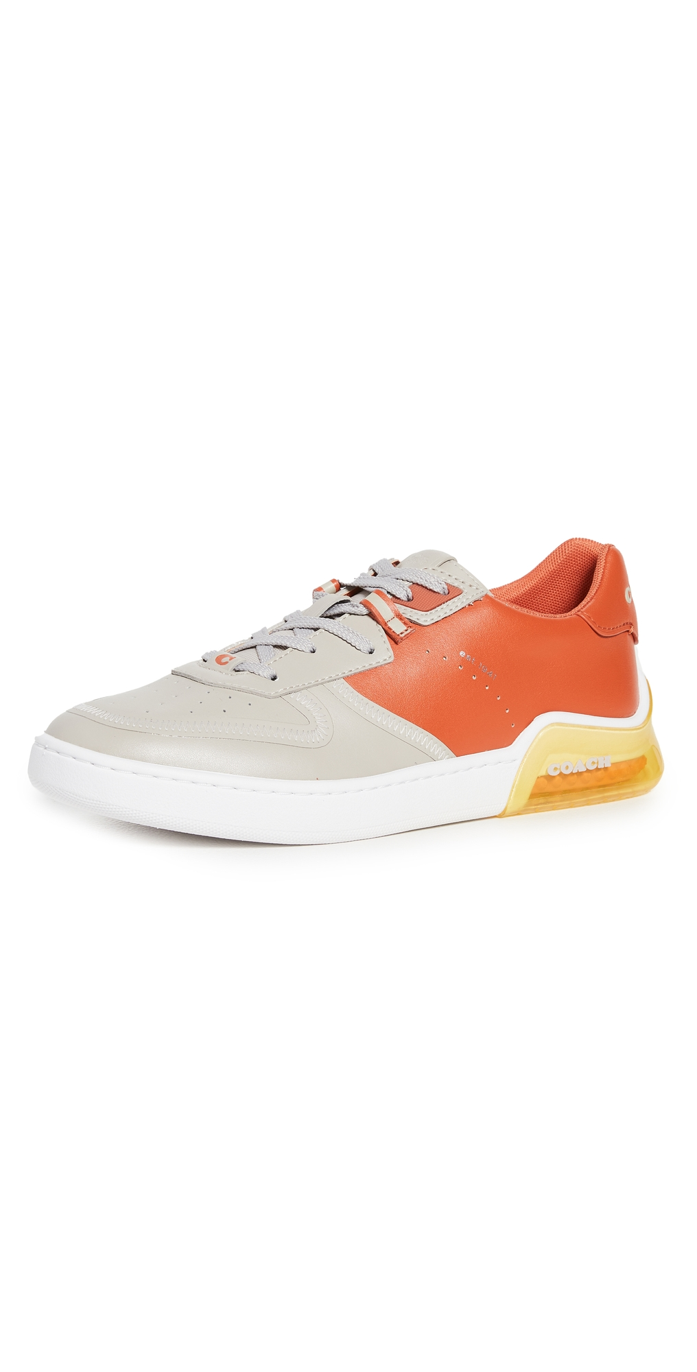 CitySole Leather Colorblock Court Sneakers