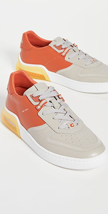 Coach New York CitySole Leather Colorblock Court Sneakers