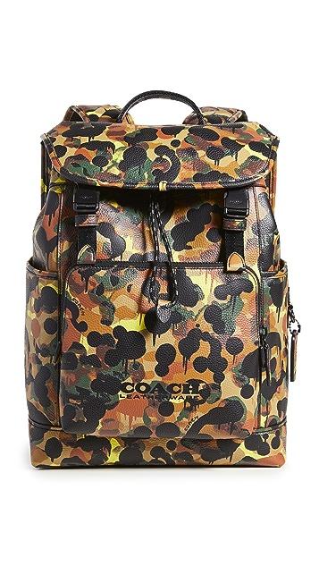 Coach New York League Flap Backpack