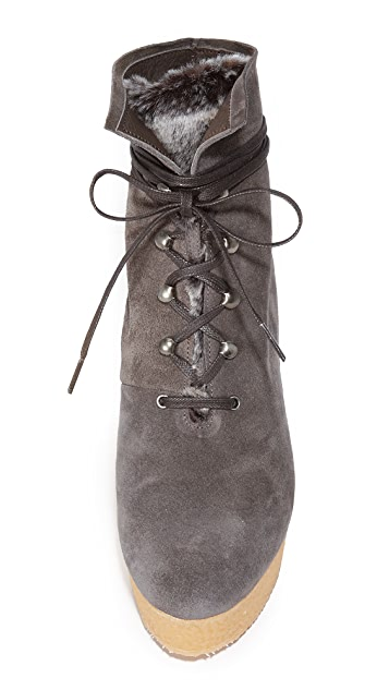 Coclico Shoes Nagy Sherpa Platform Wedge Booties