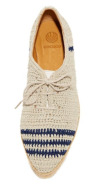 Coclico Shoes Paddle Crochet Oxfords