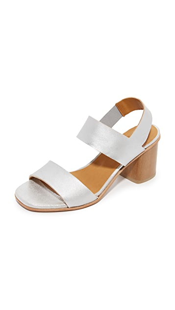 Coclico Shoes Bask Metallic Sandals