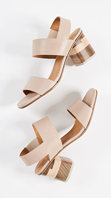 Coclico Shoes Bask Block Heel Sandals