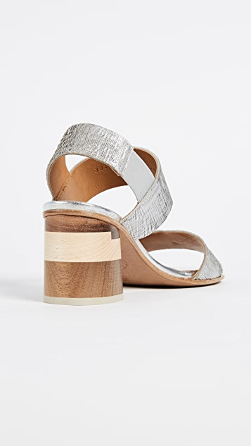 Coclico Shoes Bask Block Heel Sandals