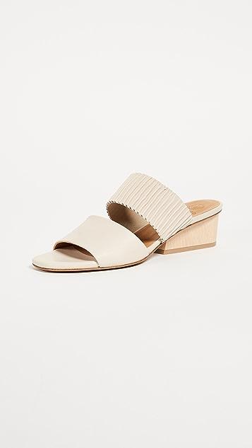 Coclico Shoes Ooh La La Block Heel Mules - Natural
