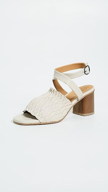 Coclico Shoes Block Heel Sandals - Natural