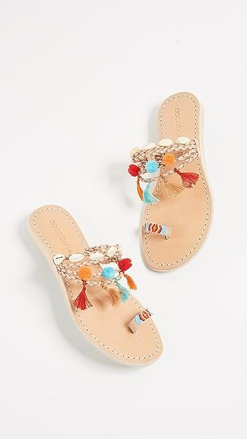Cocobelle Kopi Toe Ring Sandals