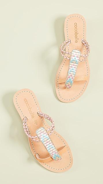 Cocobelle Cali Geometric Sandals - Blush