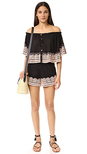 Chloe Oliver Brazillian Night Smocked Shorts