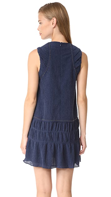 Chloe Oliver Crinkle Texture Mini Dress
