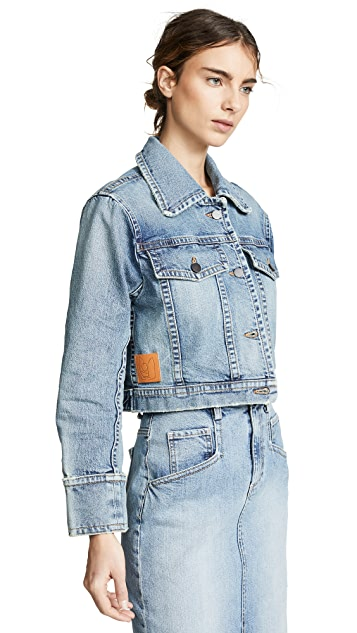 Colovos Cropped Vintage Denim Jacket
