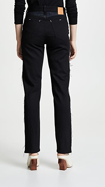 Colovos Two Tone Mid Rise Jeans