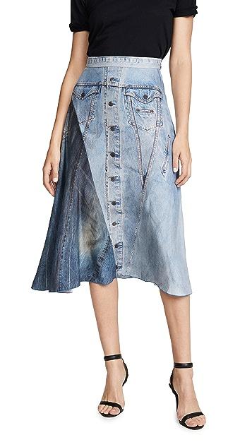 Colovos 真丝牛仔布半身裙