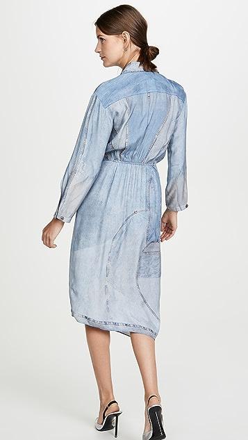Colovos Silk Denim Dress