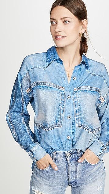 Silk Denim Shirt by Colovos