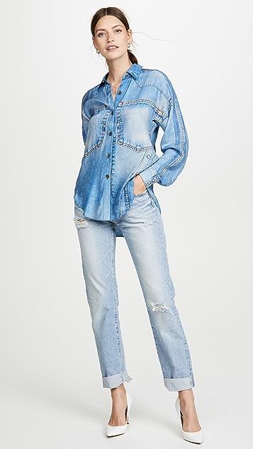 Colovos Silk Denim Shirt
