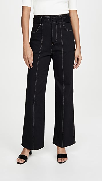 Colovos Seamed Leg Buckle Jeans