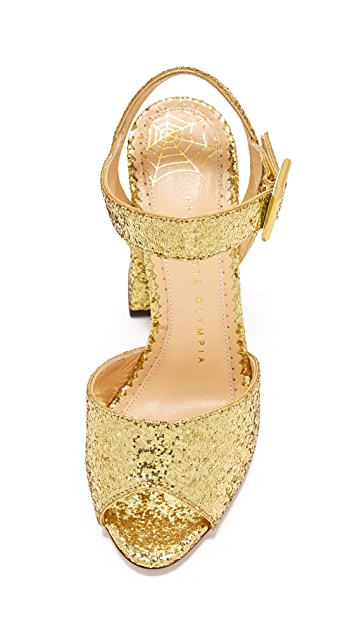 Charlotte Olympia Emma Block Heel Sandals
