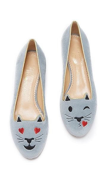 Charlotte Olympia Flirty Kitty Flats