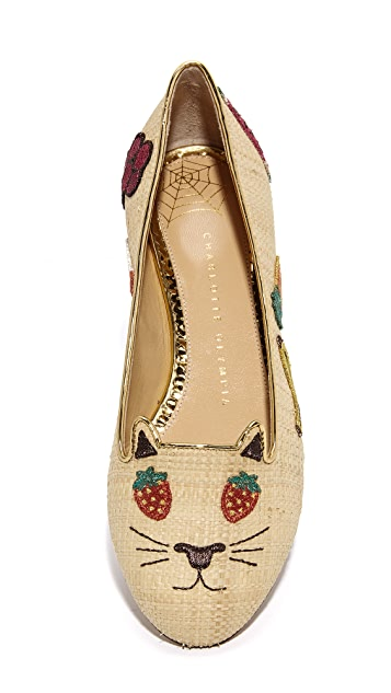 Charlotte Olympia Fruit Kitty Flats