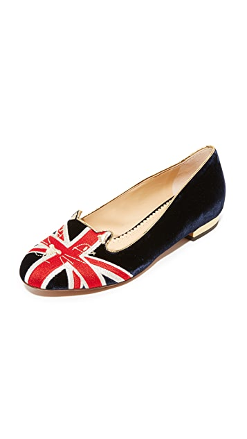 Charlotte Olympia Great Britain Kitty Flats