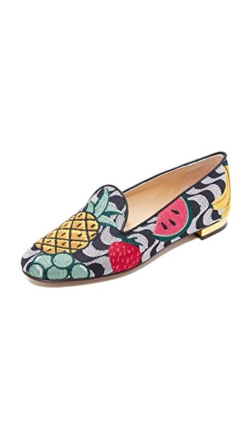 Charlotte Olympia Fruit Salad Slippers