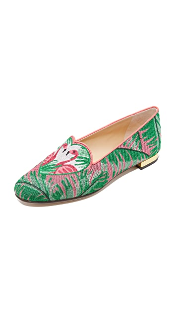 Charlotte Olympia Flamingo Slippers