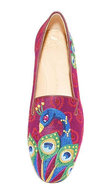 Charlotte Olympia Peacock Slippers