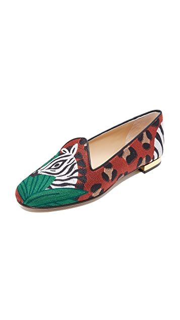 Charlotte Olympia Animal Kingdom Slippers