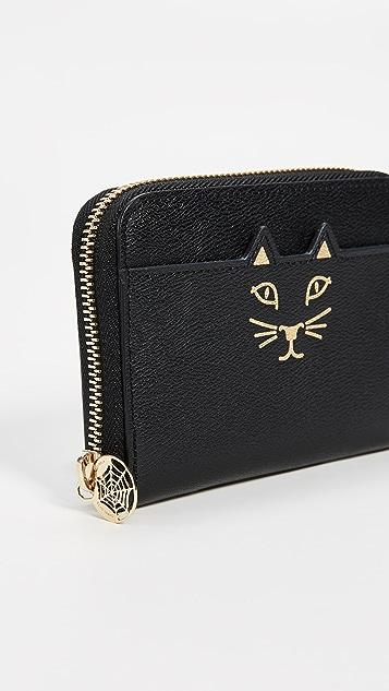 Charlotte Olympia Mini Feline Zip Wallet