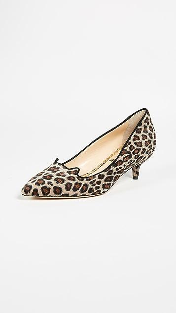 Charlotte Olympia Leopard Kitten Heels - Leopard