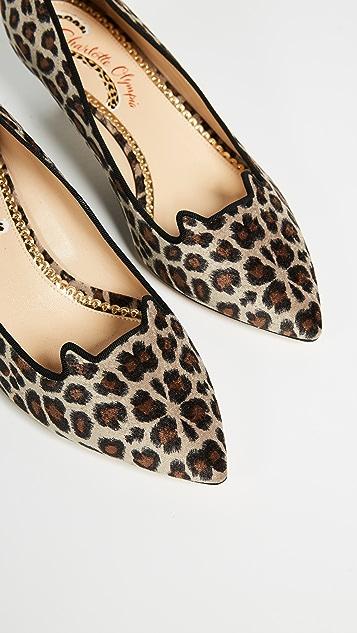 Charlotte Olympia Leopard Kitten Heels