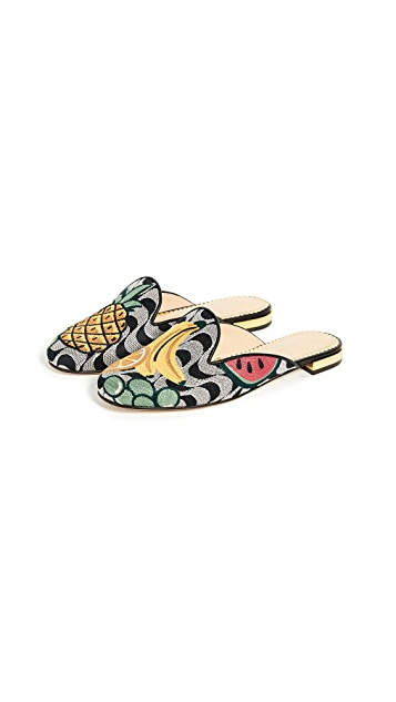 Charlotte Olympia Fruit Salad Slipper Mules