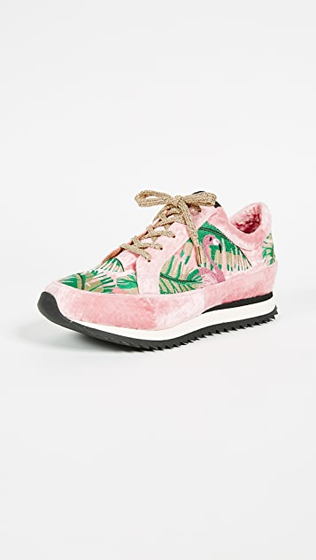 Work It! Flamingo sneakers - Pink & Purple Charlotte Olympia 4bnjy