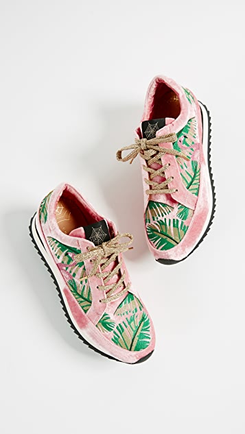 Charlotte Olympia Work It! Flamingo Sneakers