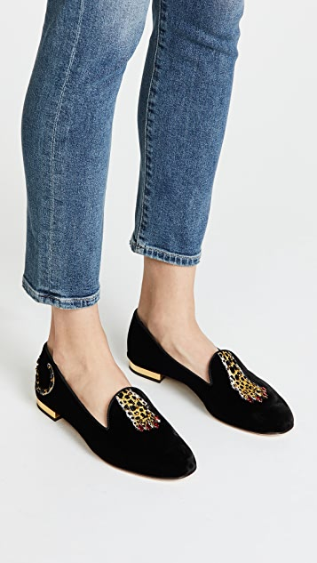 Charlotte Olympia Tiger Paw Loafers