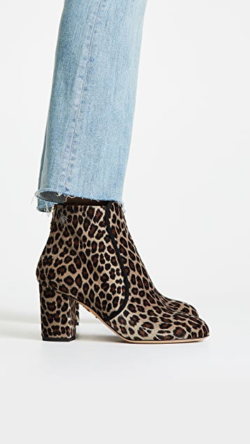 Charlotte Olympia Leopard Booties